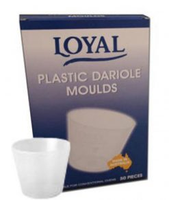 Plastic Dariole Mould 6.5cm x 5.5cm (125ml) Box by Loyal (50 units)