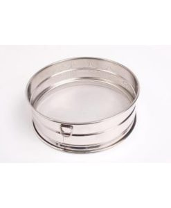 Fine Mesh Drum Sieve- Stainless steel with rim 30cm