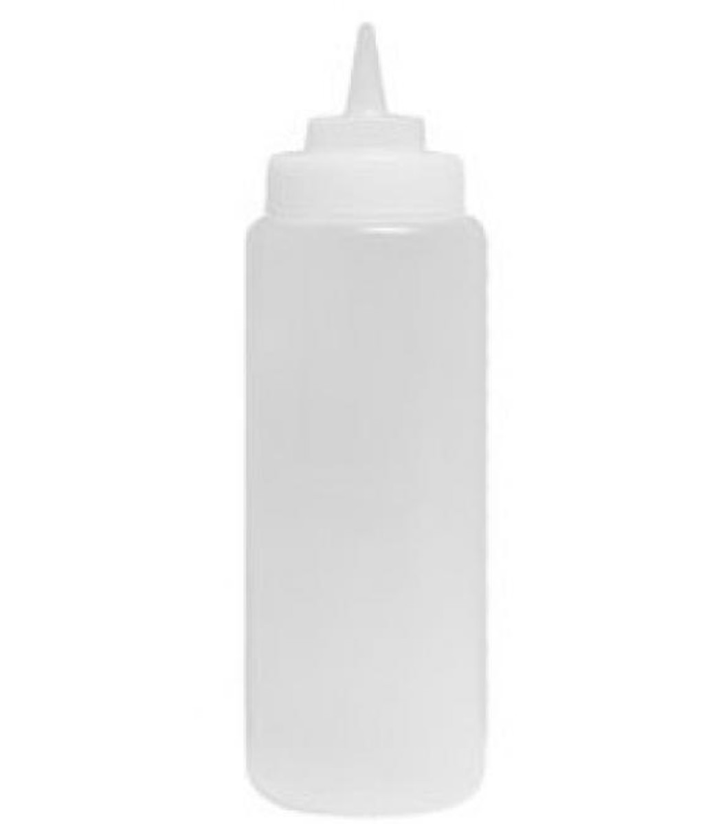 Plastic Squeeze Bottle - 708ml Clear