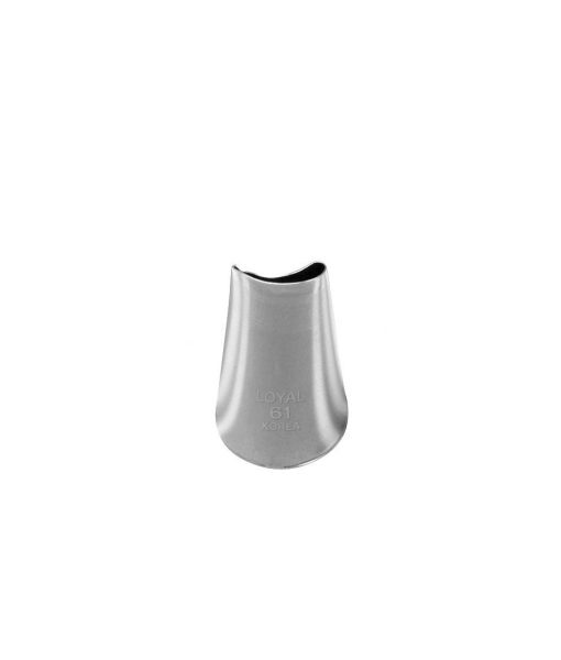 Piping nozzle Petal Tip #61 stainless steel by Loyal Cookie & Cake Decorating