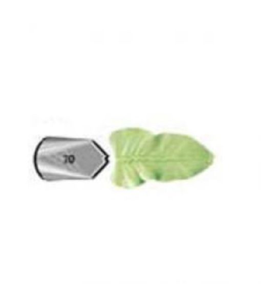 Piping nozzle Leaf Tip #70 nickel-plated brass by Wilton