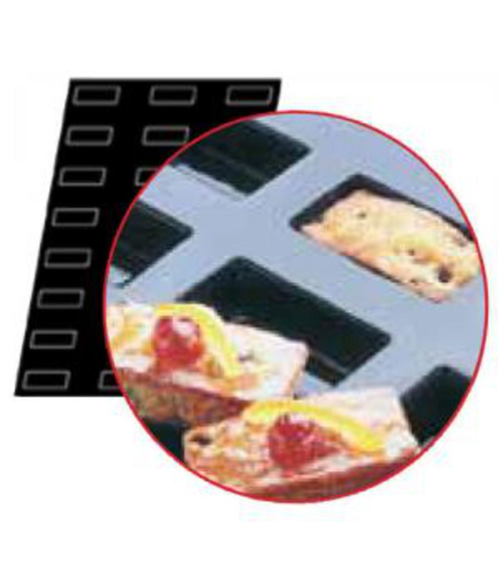Flexipan Rectangular Cake Moulds x 25 110ml - 89x46x25mm by Matfer Bourge