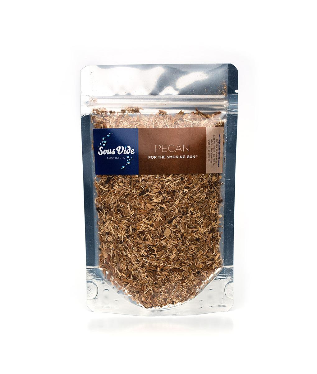 Wood chips – Pecan for The Smoking Gun wood smoker 50g Food Smoker