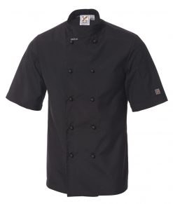 5 for the price of 4: Traditional Short Sleeve Jacket in Black by Club Chef
