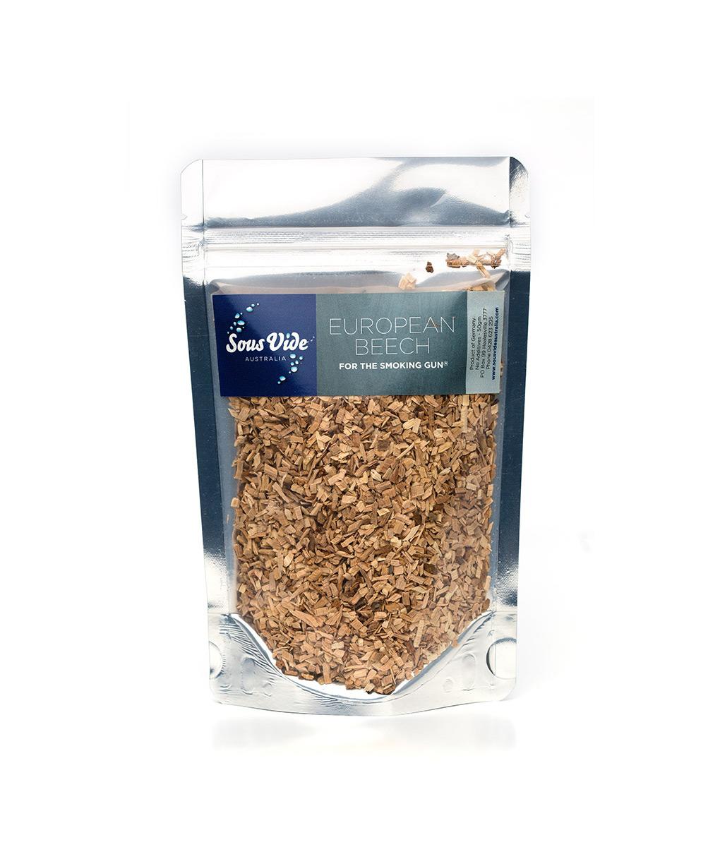Wood chips – European Beech for The Smoking Gun wood smoker 50g Food Smoker