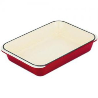 Roasting Pan 40x26cm Federation Red by Chasseur
