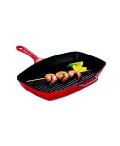 Rectangle Grill Pan 37x32cm/1.7lt - Inferno Red by Chasseur