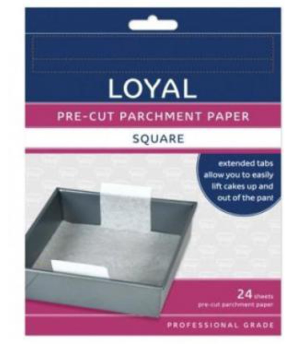 Parchment Paper - 15cm Pre-Cut Square with tabs by Loyal
