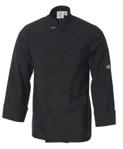 Traditional Chef Jacket in Black - Long Sleeves by Club Chef