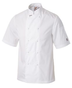 Traditional Chef Jacket in White - Short Sleeves by Club Chef