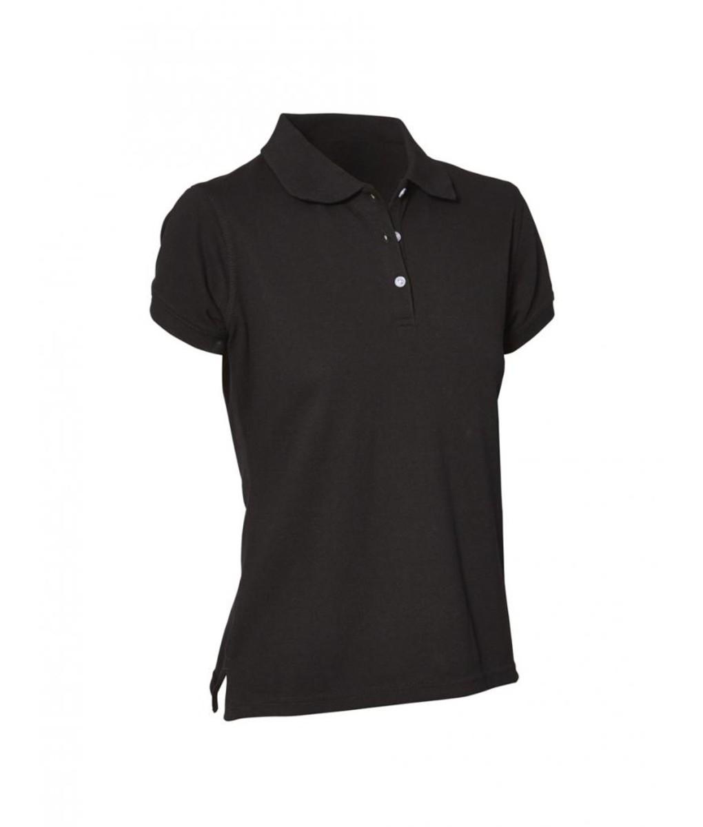 Ladies Polo Shirt - Black by Club Chef