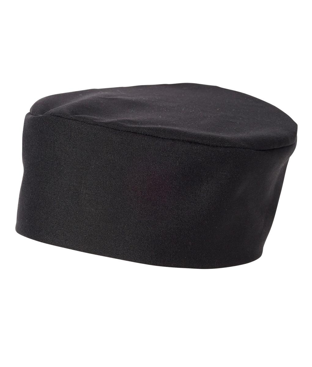 Traditional Flat Top Hat Black (Skull Cap / Pill Box) by Club Chef Chef Uniforms 2