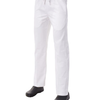 White Drawstring Trouser by Club Chef