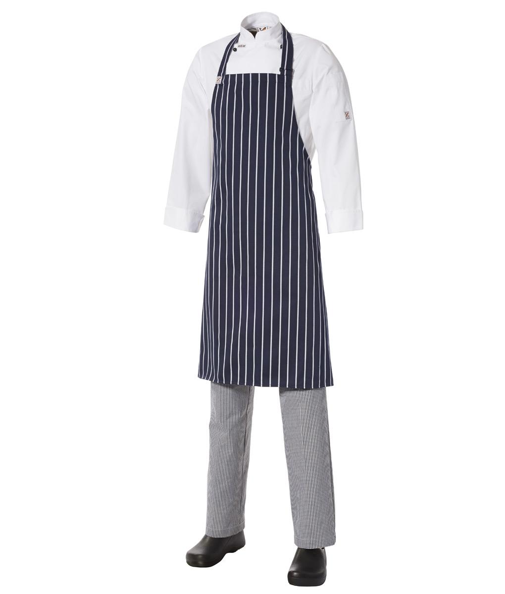 Bib Apron Pinstripe – Medium by Club Chef Aprons 2