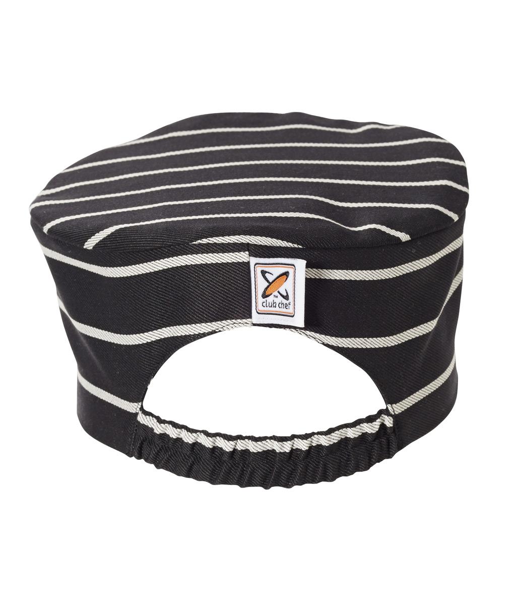 Flat Top Hat Pinstripe by Club Chef Chef Uniforms 2