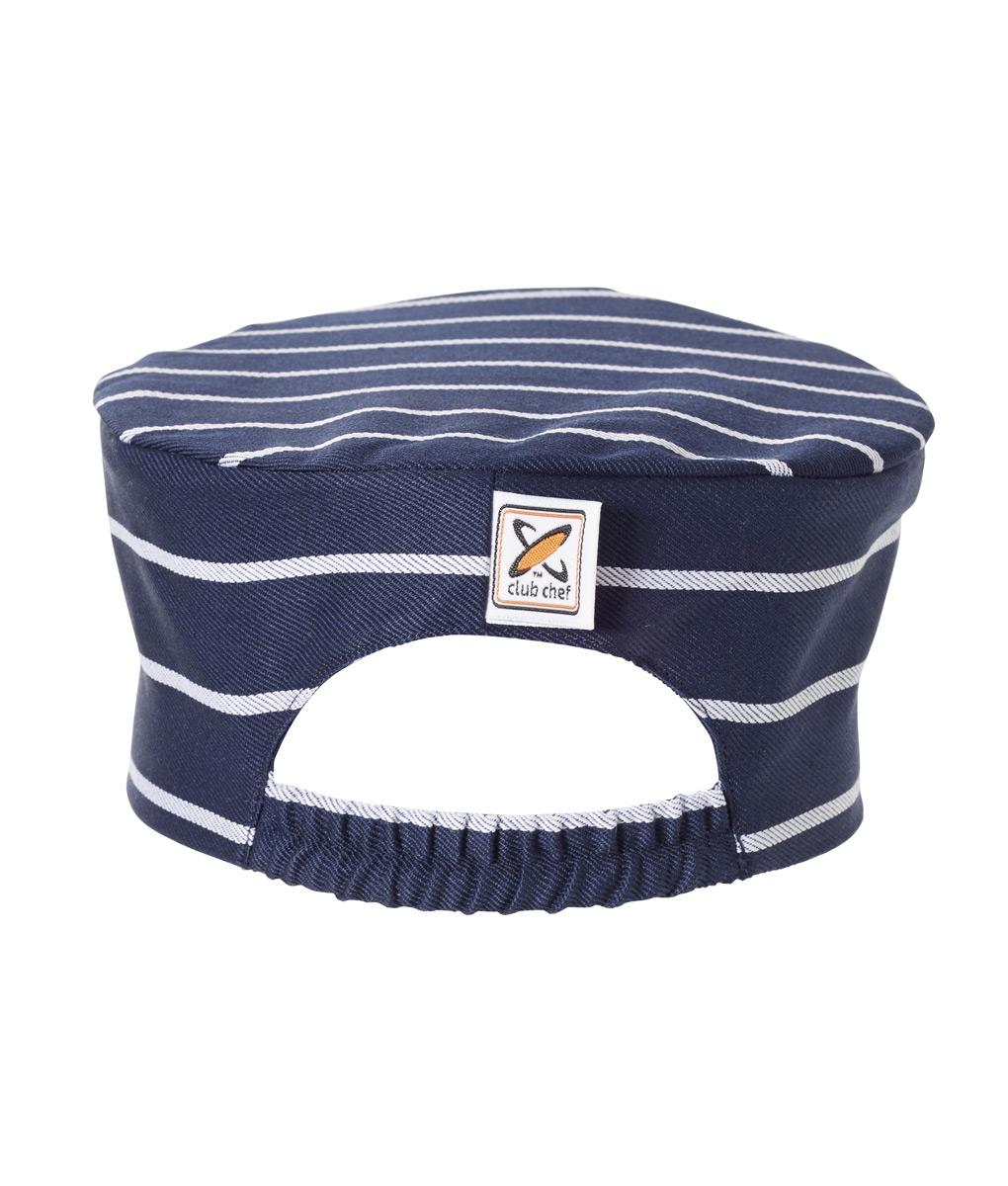 Flat Top Hat Pinstripe by Club Chef Chef Uniforms 3