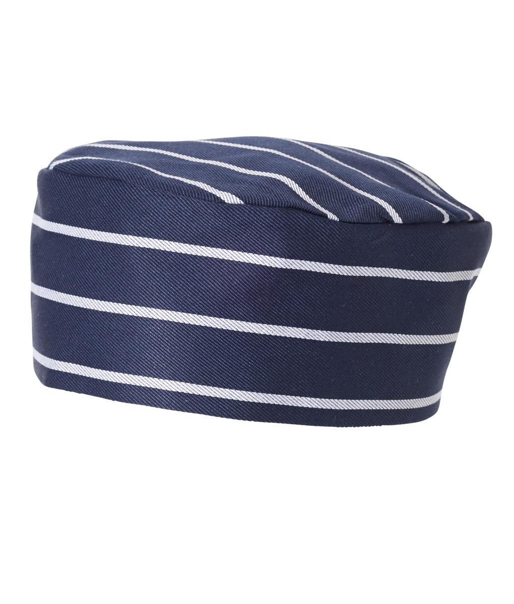 Flat Top Hat Pinstripe by Club Chef Chef Uniforms 5