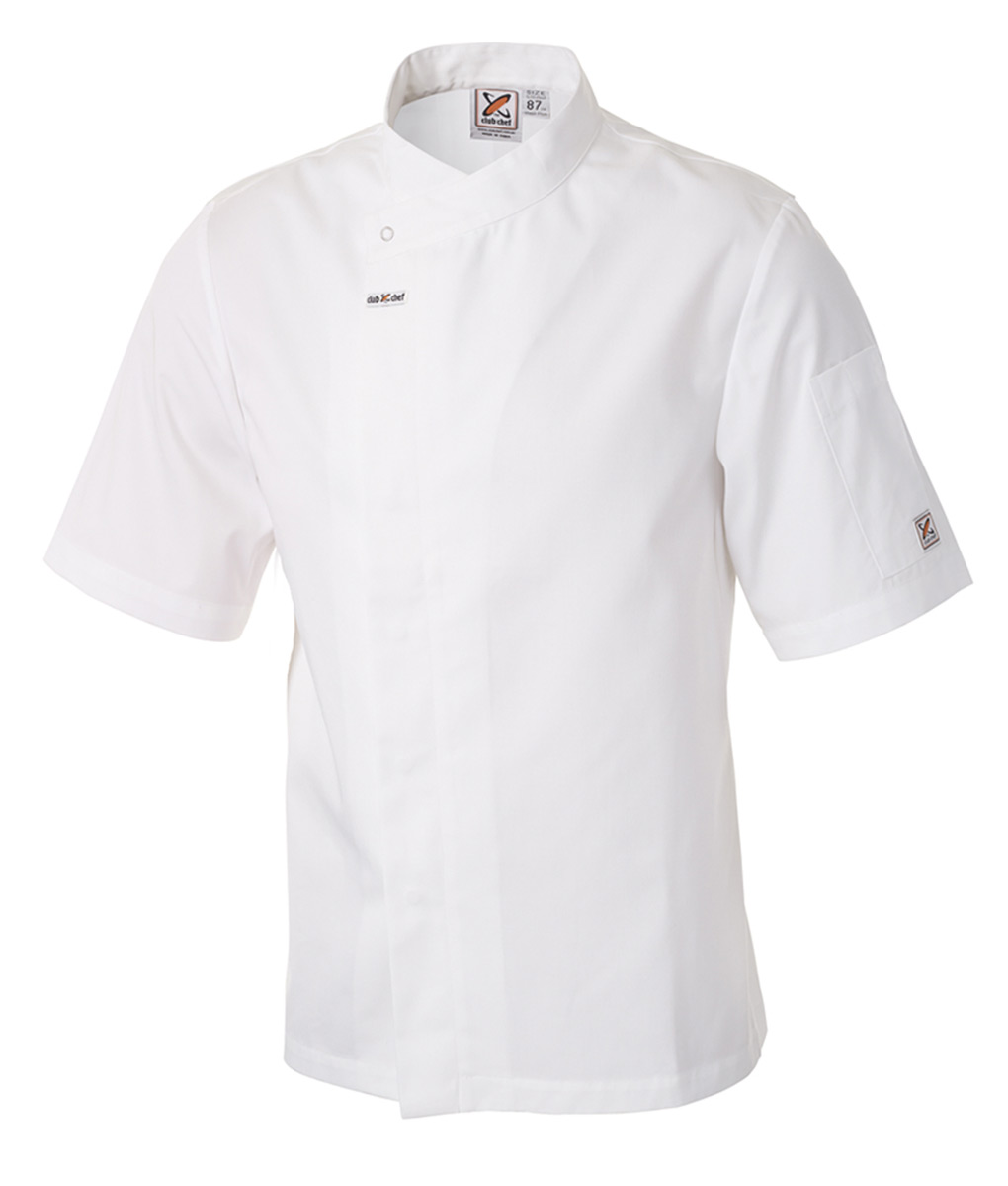 Food Preparation Chef Jacket Short Sleeves White by Club Chef