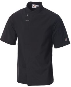 Food Preparation Chef Jacket Short Sleeves Black by Club Chef Chef Jackets