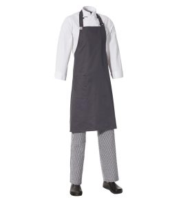 Bib Apron with Side Pocket by Club Chef