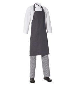 Bib Apron with Side Pocket by Club Chef