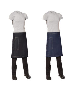 Medium Denim Apron with Pocket by Club Chef