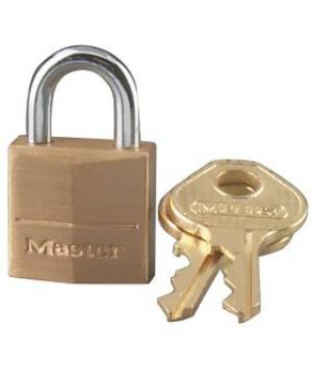 """Master Lock #120D 3/4"""" Solid Brass Padlock"""