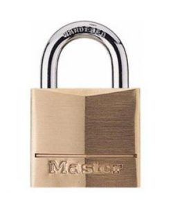 "Master Lock #130D 1-3/16"" Brass Padlock"
