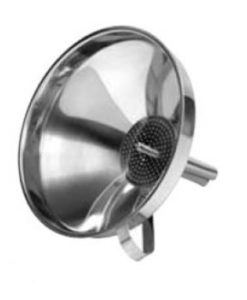 Funnel & Strainer 14.5cm Stainless Steel
