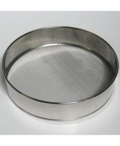 Fine Mesh Drum Sieve- Stainless steel with rim 25cm