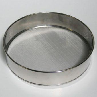 Fine Mesh Drum Sieve- Stainless steel with rim 25cm