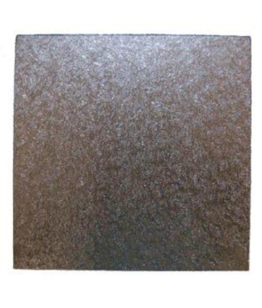 Cake Board- 15cm Square - Silver