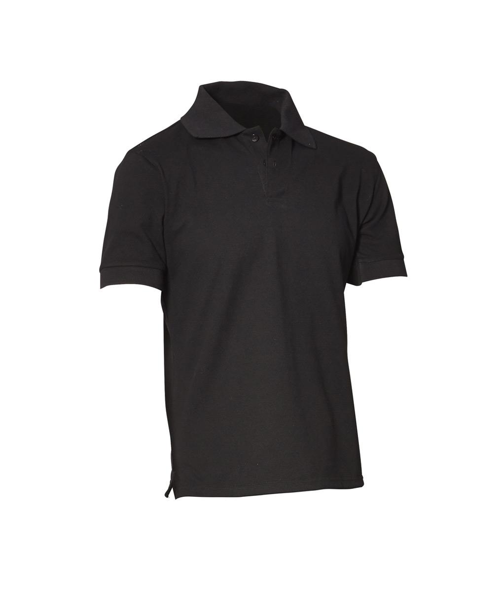 Mens Polo Shirt – Black – Neon by Fashion Biz Chef Uniforms