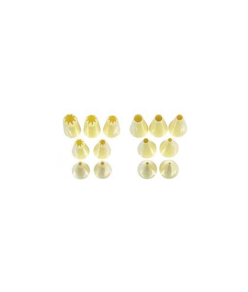 Piping Nozzle Set Of 14 – Plain & Star by Loyal Piping Bags & Nozzles 2