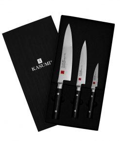 Kasumi 3pc Boxed Knife Set Blocks and Knife Sets